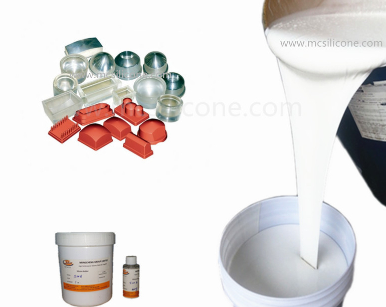 Mold making liquid silicone rubber RTV2 for plaster reproduce, pad printing