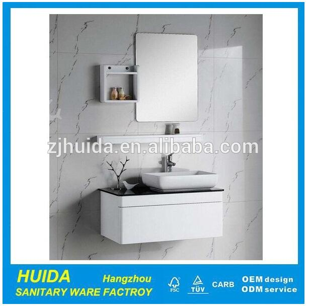 2017 Chinese hot sale new style high glossy hangzhou pvc bathroom cabinet