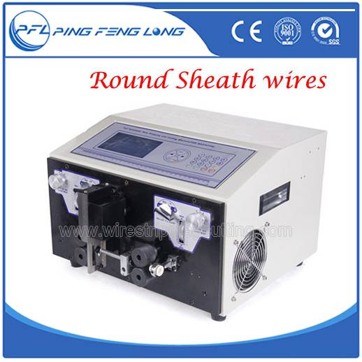 Wire Stripping Machine Suitable For Flat Double Coaxial Cable With the Sheath PFL-05