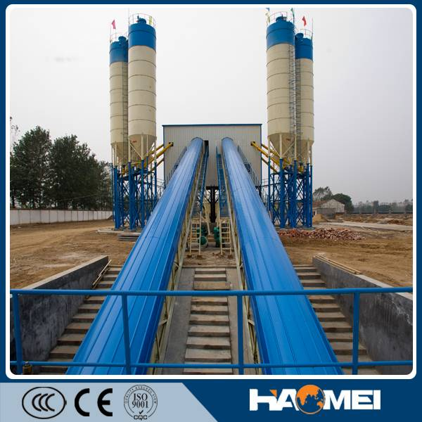 Ready Mixed Concrete Mixing Plant For Sale HZS120 In Russia