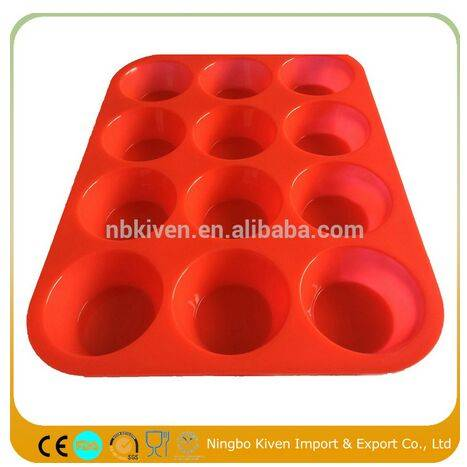 Mini Muffin Pan With Cupcake Baking Mould Tray 12 Cup Muffin Baking Mould