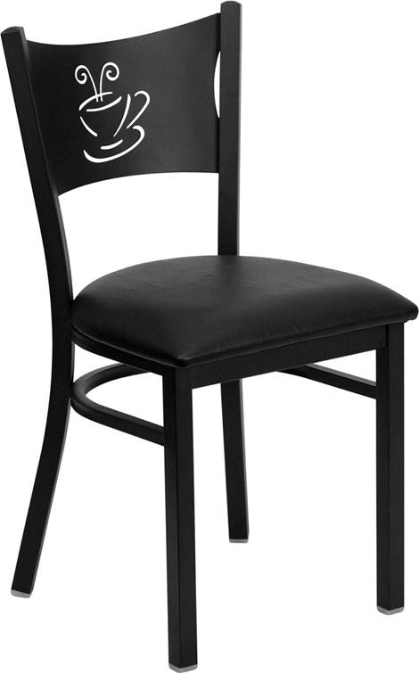 The coffee metal chair restaurant chair dinning room chair