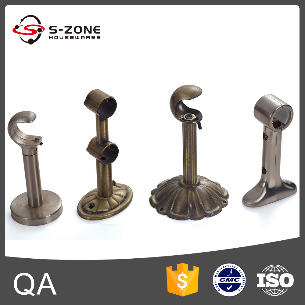 Home accessories curtain rod wall mounted brackets