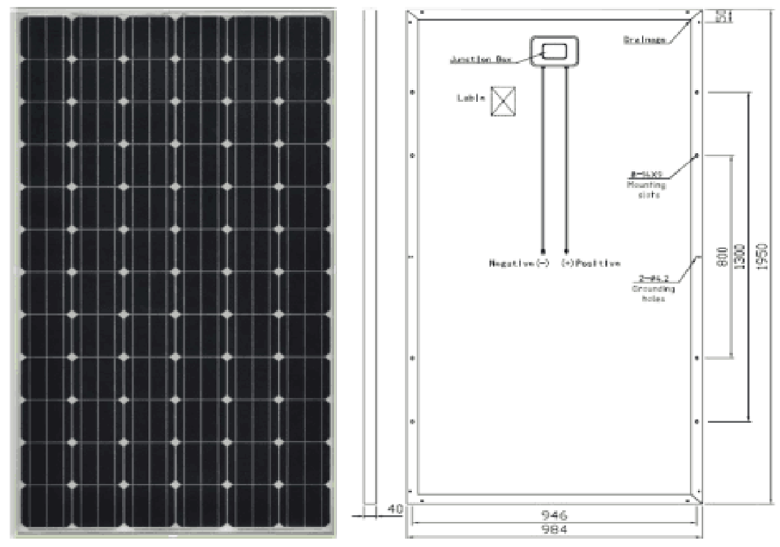 royalstar M72 distributed grid connected photovoltaic system