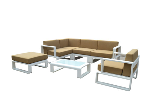 Hotel outdoor furniture high grade aluminium lounge sofa
