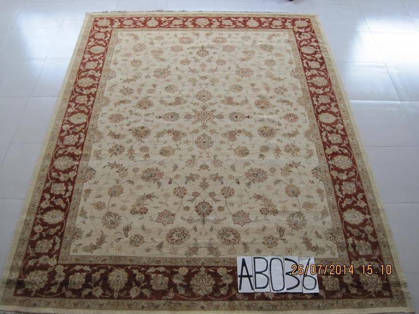 handmade wool persian carpet