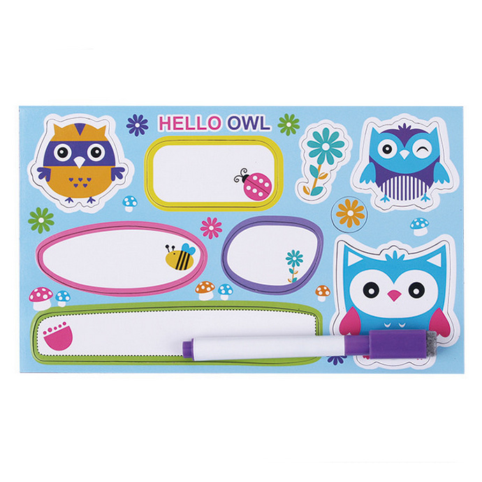 Owl Magnetic Educational With Board Pen