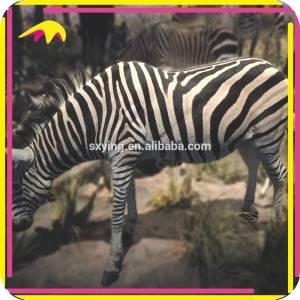 KANO5228 Amusement Park Artificial Life-Size Zebra Animal Statues