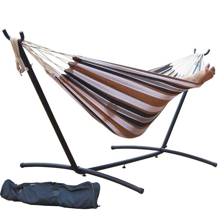 2016 New Single Portable Hammock Cotton Rope Hanging Canvas Bed Outdoor Hammock Swings Camping Hammo