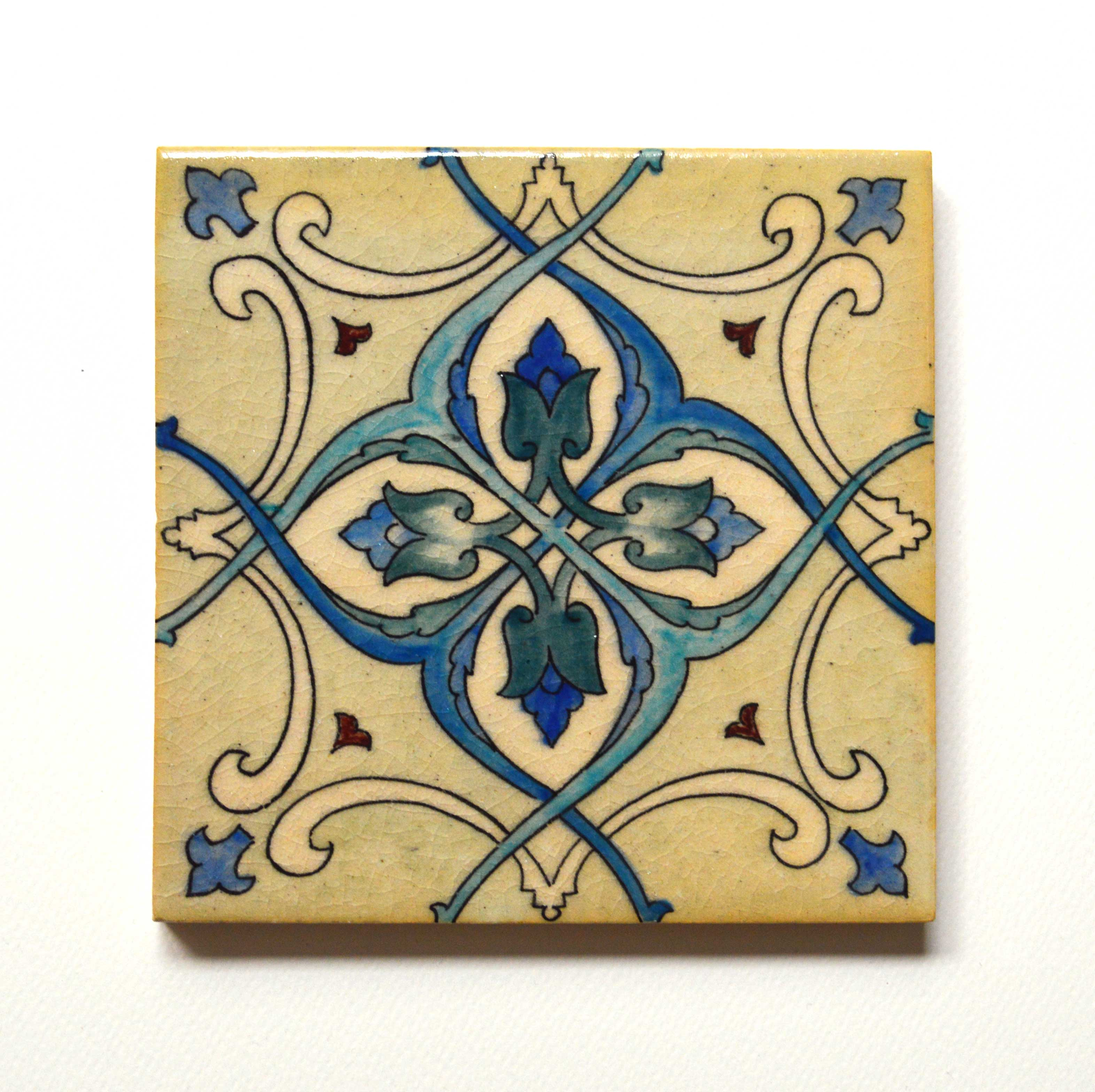 Hand Painted Ceramic Tile No.16