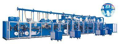 Sanitary napkin towel pad machine production line manufacturing plant
