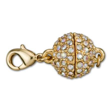 Crystal Magnetic Jewelry Clasp With Lobster Clasps