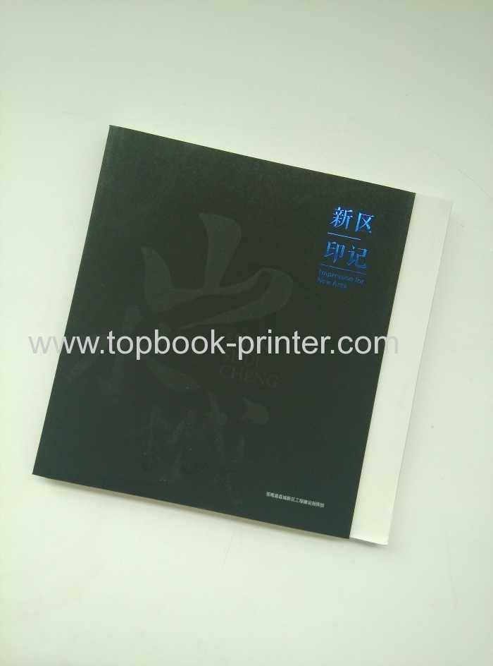 Impression for New Area gold foil stamped cover hardcase book printing on demands