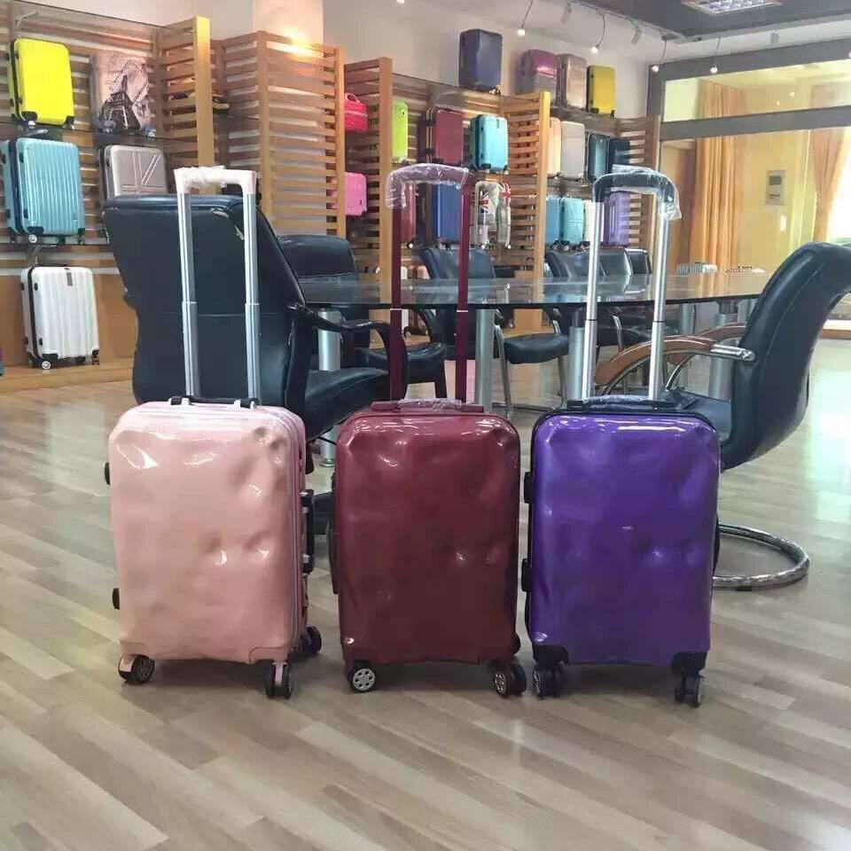 NO:PC-005Vertical stripe universal wheel travel box Luggage Trolley Bags
