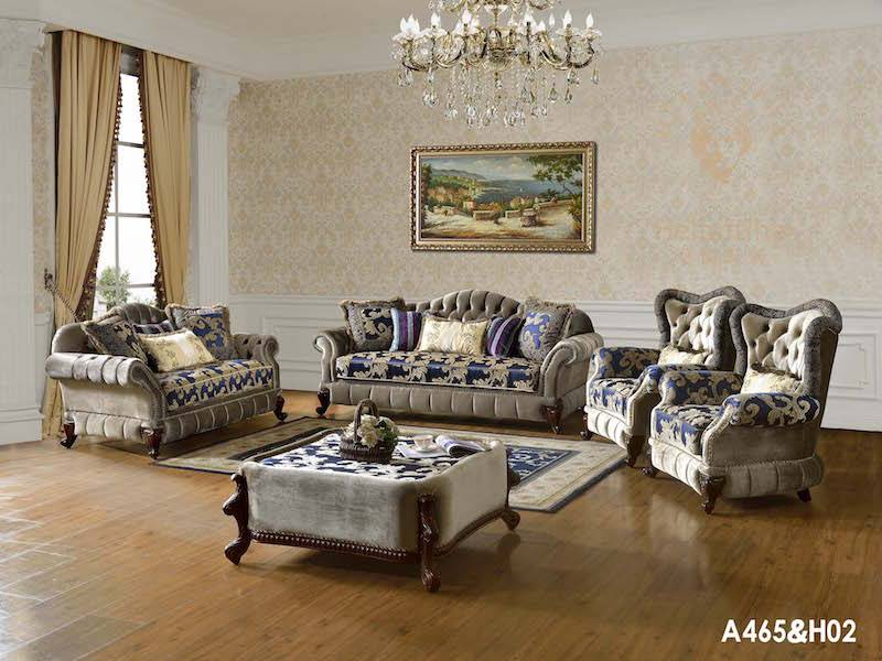 Luxury European French Antique Living Room Sofa Set