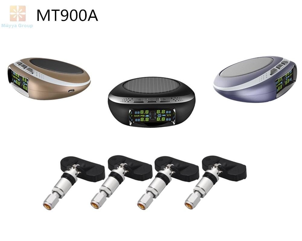 Car Wireless TPMS Solar panel Auto Tire Pressure Monitoring System+4 Internal TPMS Sensors