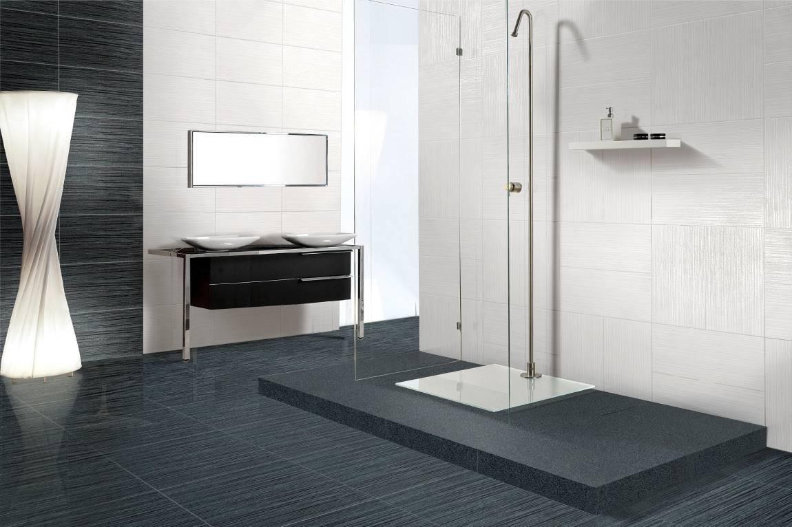 Line gray tile