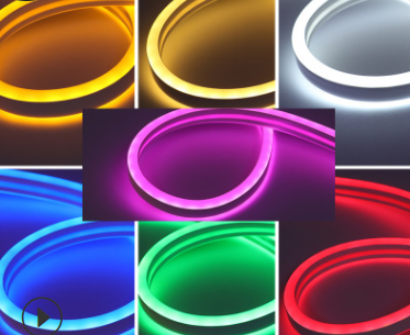Flexible neon light with low voltage light strip