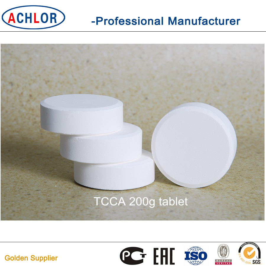 chlorine tablet 90% 200g swimming pool chemicals