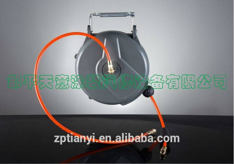Tianyi auto retractable air hose reel/automatic hose reel/hose reel drum