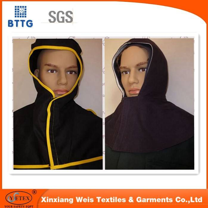 YSETEX EN11612 Good anti flaming performance for the aramid 3A protective hood for insustry