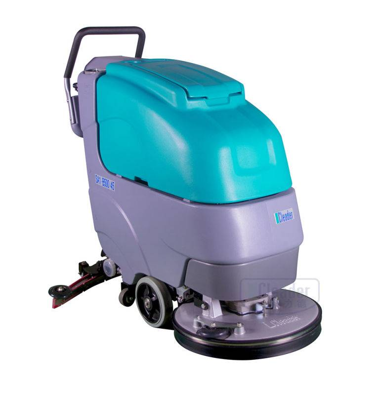hand push battery type high efficiency floor scrubber
