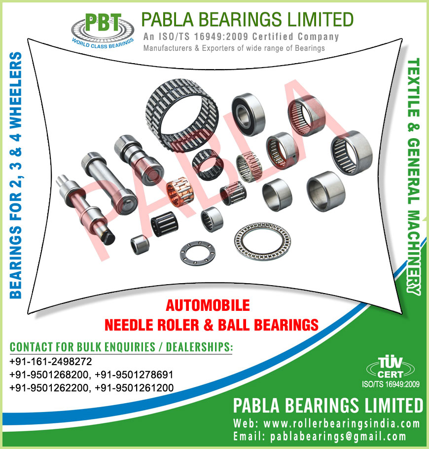 automobile needle roller ball bearings manufacturers in India