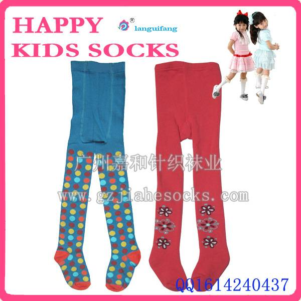 Hot selling kids little girls cotton colored pantyhose