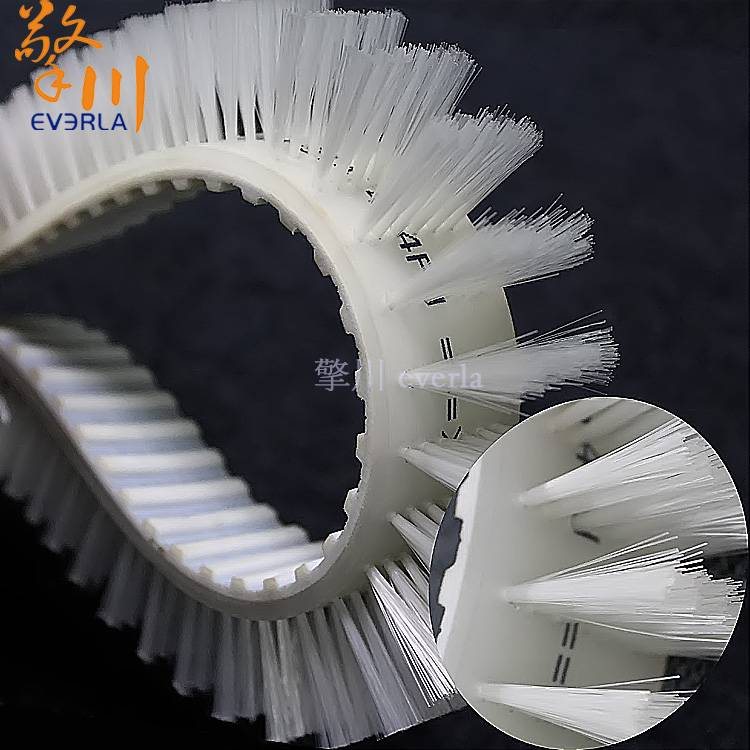 Polyurethane PU synchronous belt with nylon bristles