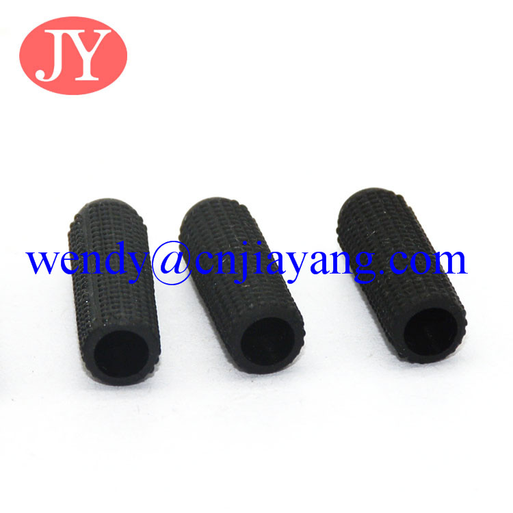 15mm Black soft plastic aglet for cord lock