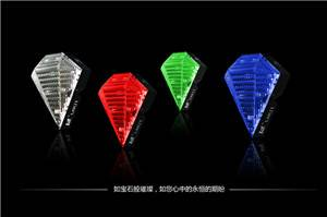 High Quality Bicycle Tail Light Red Blue White Green 2 Parallel Lines