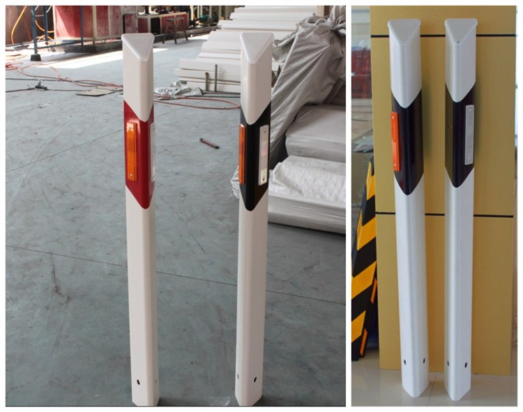 2017 hot sale type highway guardrail reflector, Road safe PVC White Column reflective delineator