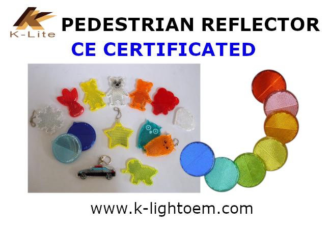 Pedestrian Reflector Key chain CE certificate