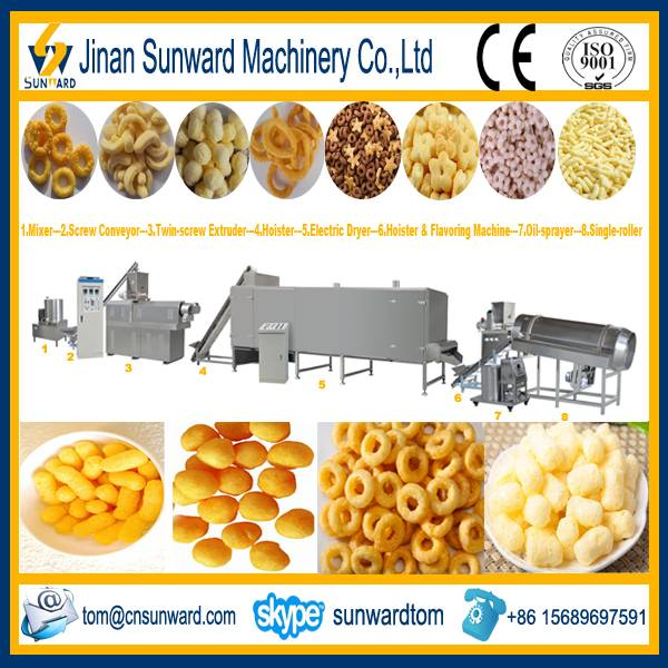 Puffed Snack Food Processing Line Machinery