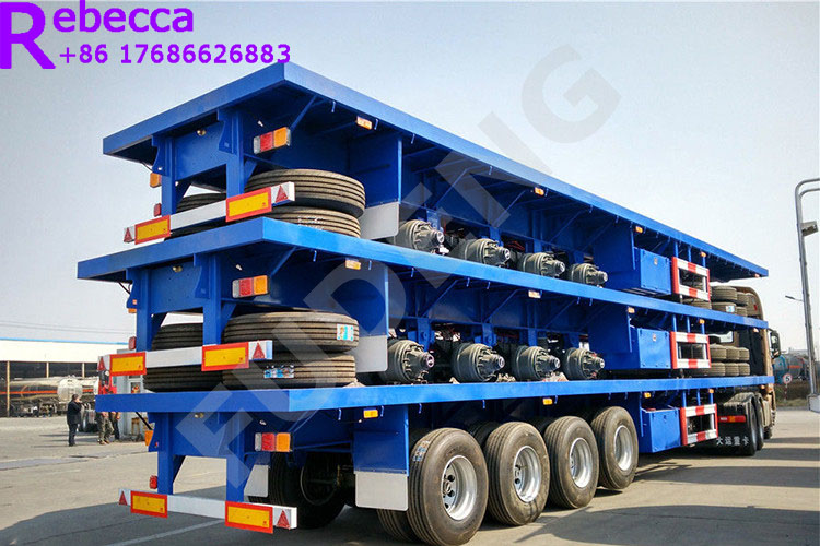 flatbed truck trailer container flat bed trailer for sale