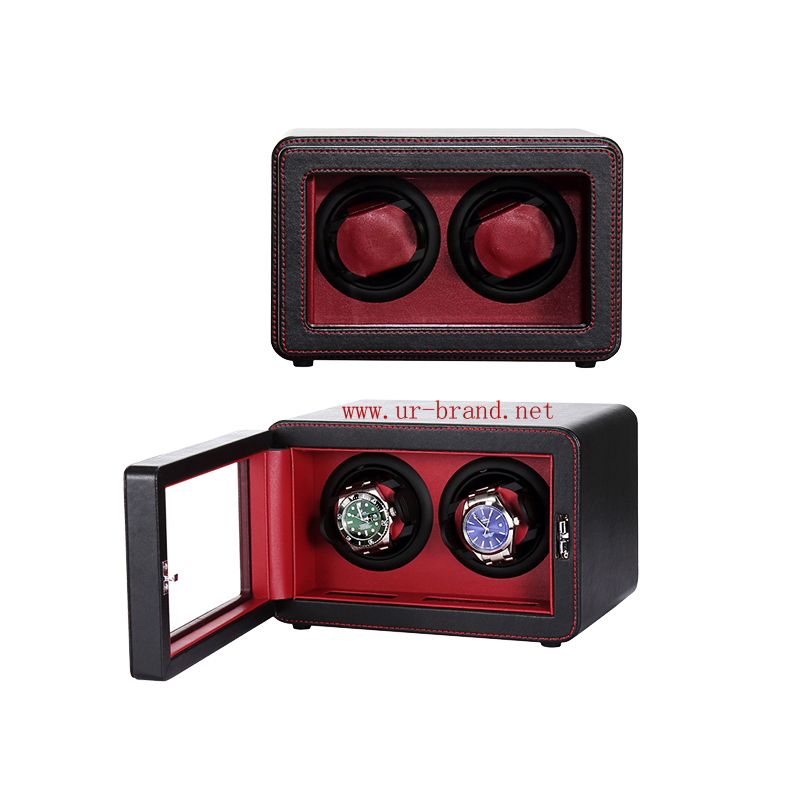 Automatic double PU leather watch winders man watch winder wholesale