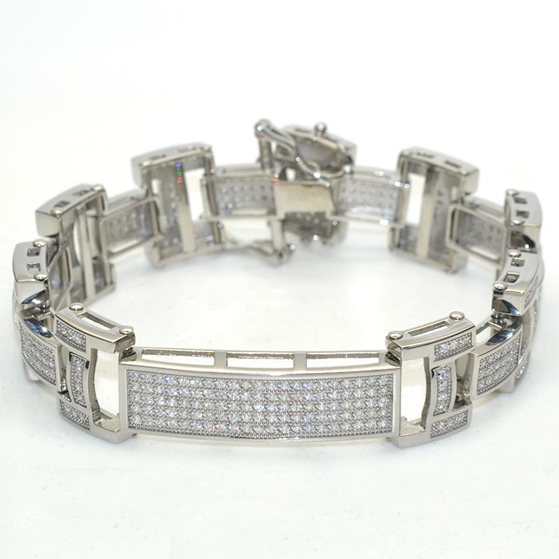 elegance & nobleness 316L stainless steel micro pave setting diamond tennis bracelet
