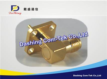 SMA right angle flange connector
