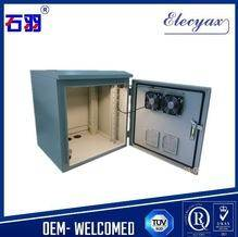 Rack mount outdoor telecom cabinet storage equipment cooling enclosure with metal