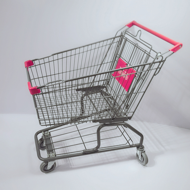New Style Cheap 4 Wheel Shopping Cart Trolley with Baby Seat for Supermarket