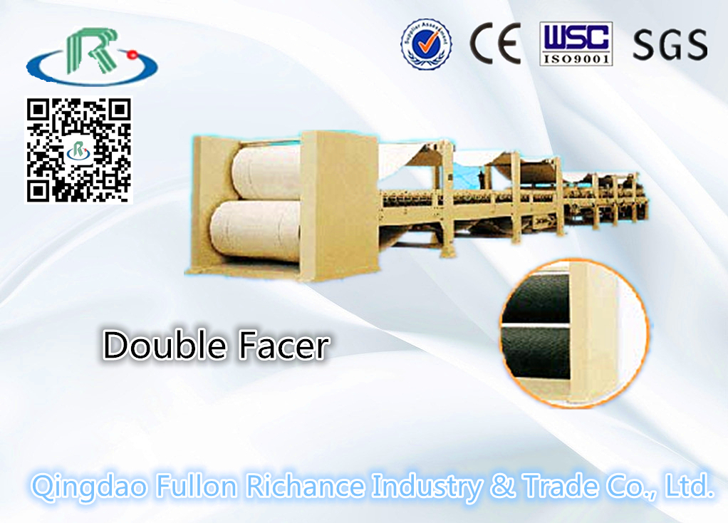 Corrugated Paper Cardboard Double Facer Carton Machine