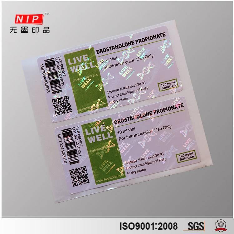 Warranty Heat Transfer Transparent Security Hologram Stickers
