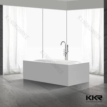 wholesale solid surface marble bath engineered stone bathtubs
