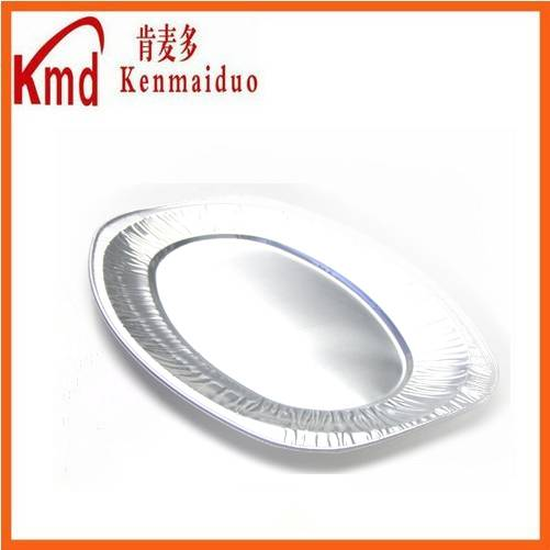 HOT SALE disposable and recyclable oval aluminum foil dinner tray 100pcs/ctn