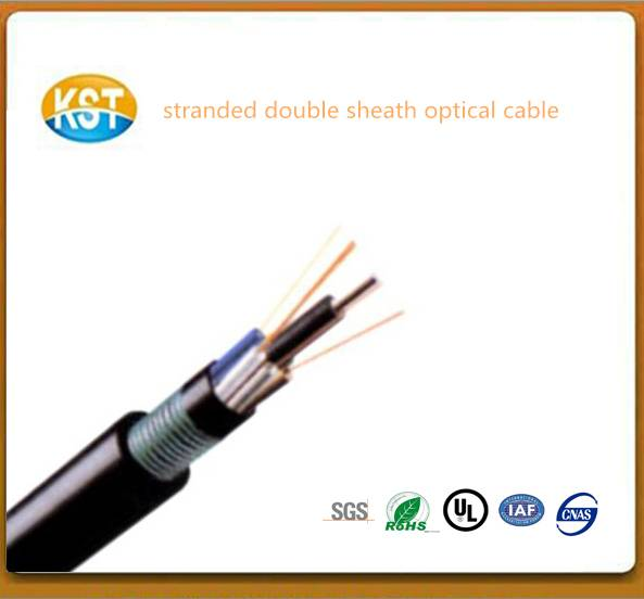 Stranded Non-metallic Armored and Double Sheath cable/communication cable PE jacket