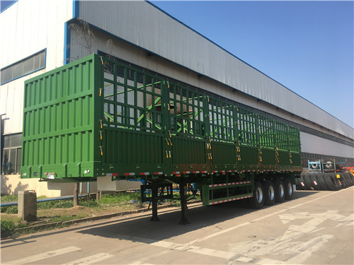 4 Axles Drop-Side Fence Cargo Trailer