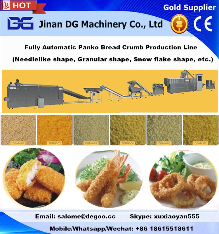 Panko breadcrumb/bread crumb making machine production line