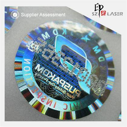 Custom polyester 3D holographic decals with serial number printing
