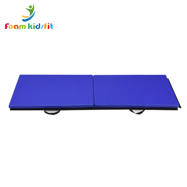 """71""""x35""""x2"""" Gymnastics Mat Thick Two Folding Panel Gym Fitness Exercise Blue"""