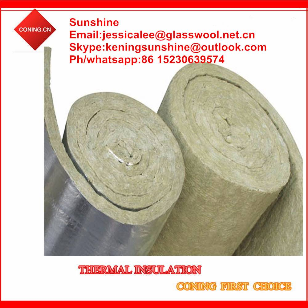 Soundproof rock wool roll/rock wool felt/rock wool blanket thermal insulation